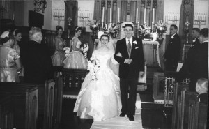 Mom and Dad on their wedding day in 1956